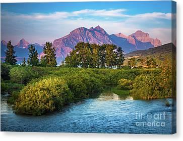 Montana Purple Mountains Canvas Print by Inge Johnsson