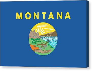 State Of Montana Canvas Print - Montana State Flag by American School