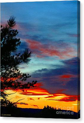 Giselaschneider Canvas Print - Montana Sun Set ... Montana Art Photo by GiselaSchneider MontanaArtist
