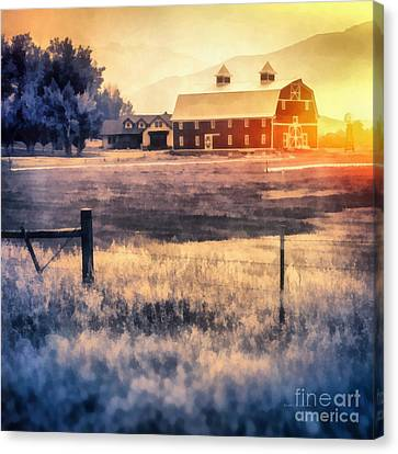Montana Sunrise Canvas Print by Edward Fielding