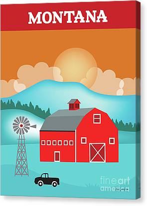 Montana Vertical Scene Canvas Print