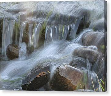Montana Waterfall Canvas Print by Kristy Marsich