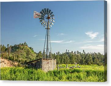 Montana Windmill Canvas Print by Todd Klassy