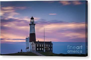 Montauk Lighthousepastel  Sunrise Canvas Print