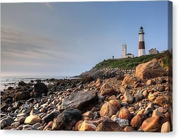 Montauk Point Lighthouse Canvas Print by Steve Gravano