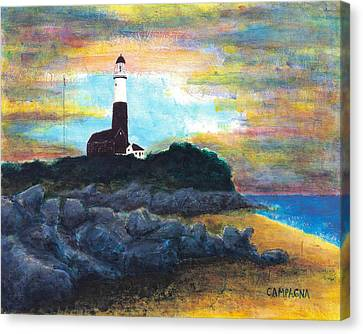 Montauk Point Canvas Print by Teddy Campagna