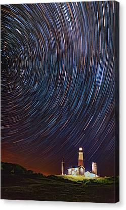 Montauk Star Trails Canvas Print by Rick Berk
