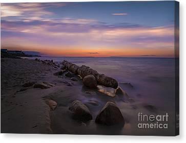 Montauk Sunset Boulders Canvas Print