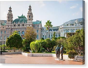 Posh Canvas Print - Monte Carlo Casino And Gardens, Monaco by Elena Elisseeva
