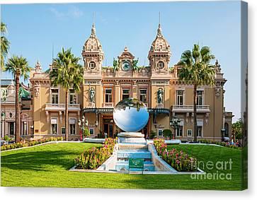 Posh Canvas Print - Monte Carlo Casino And Sky Mirror In Monaco by Elena Elisseeva