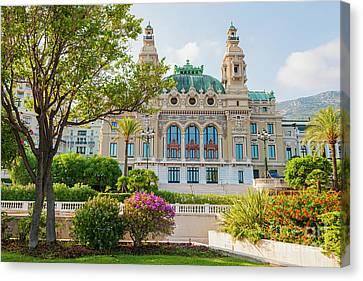 Posh Canvas Print - Monte Carlo Casino by Elena Elisseeva
