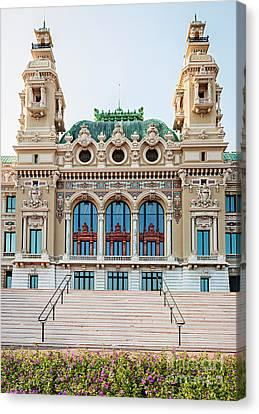 Posh Canvas Print - Monte Carlo Casino In Monaco by Elena Elisseeva