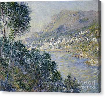 Breeze Canvas Print - Monte Carlo by Claude Monet