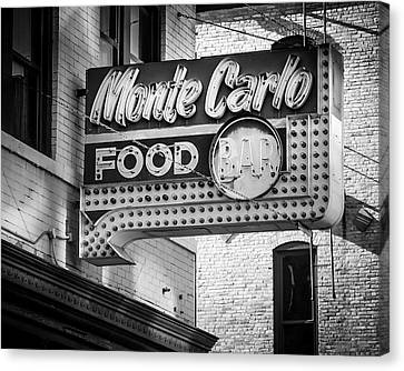 Monte Carlo Food Canvas Print by Perry Webster
