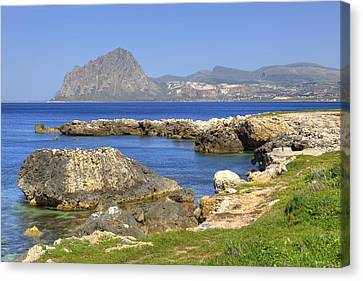 Sicily Canvas Print - Monte Cofano - Sicily by Joana Kruse