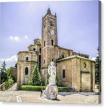 Monte Oliveto Maggiore Canvas- Asciano - Siena Prints  Tuscany Squared Format Canvas Print by Luca Lorenzelli