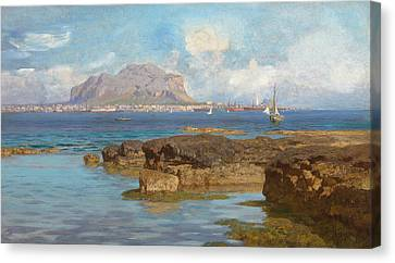 Monte Pellegrino Canvas Print by Francesco Lojacono