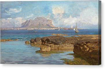 Sicily Canvas Print - Monte Pellegrino  Palermo Sicily by Francesco Lojacano