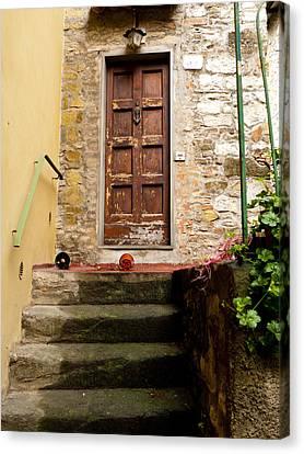 Montefioralle Door Canvas Print