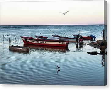 Canvas Print - Montego Bay Fishing Scene by Steven Richman