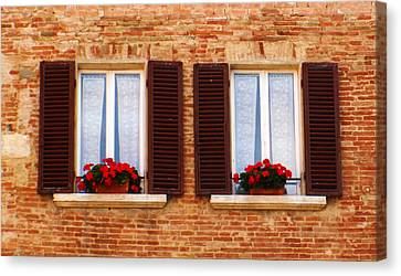 Montepulciano Window Canvas Print