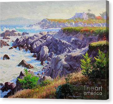 Monteray Bay Morning 1 Canvas Print by Gary Kim
