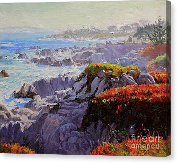 Monteray Bay Morning 2 Canvas Print by Gary Kim
