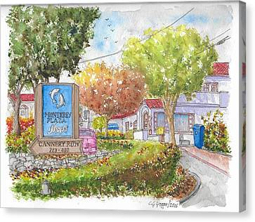 Monterey Plaza Shops In Cannery Row, Monterey, California Canvas Print by Carlos G Groppa