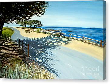 Canvas Print featuring the painting Monterey Shadows by Elizabeth Robinette Tyndall