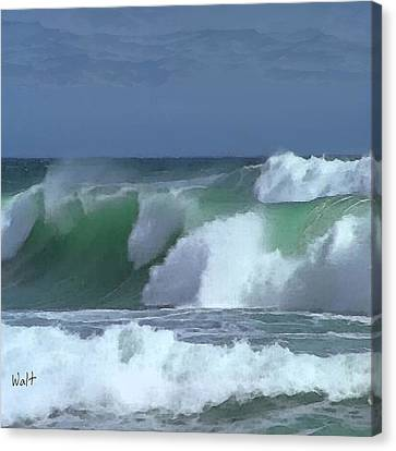 Monterey Surf Canvas Print