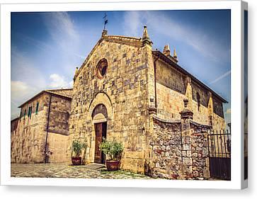 Monteriggioni Main Church Canvas Print by Luca Lorenzelli