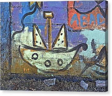 Montevideo Mural No. 80a-1 Canvas Print by Sandy Taylor