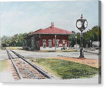 Montezuma Train Depot Canvas Print