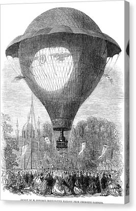 Montgolfier Balloon, 1864 Canvas Print by Granger