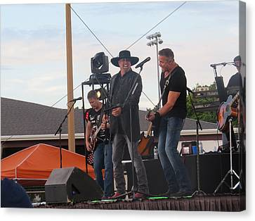 Canvas Print featuring the photograph Montgomery Gentry by Aaron Martens
