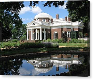 Canvas Print featuring the photograph Monticello by Doug McPherson