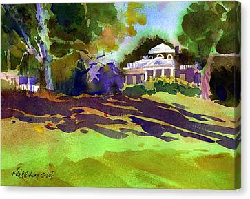 Monticello In October Canvas Print by Lee Klingenberg