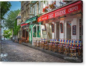 Montmartre Cafe Canvas Print by Inge Johnsson