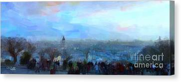 Montmartre From The Butte Canvas Print by Chris Armytage