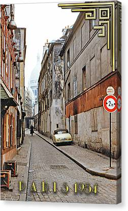 Canvas Print featuring the photograph Montmartre - Titled by Chuck Staley