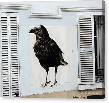 Montmartre's Raven By Taikan Canvas Print