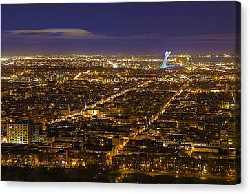 Montreal At Dusk Canvas Print by Mircea Costina Photography