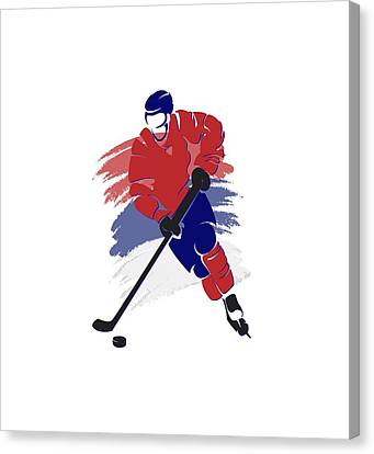 Montreal Canadiens Player Shirt Canvas Print by Joe Hamilton
