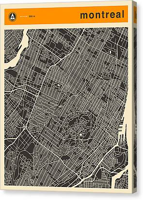 Montreal City Map Canvas Print by Jazzberry Blue