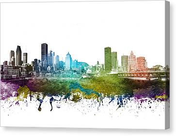 Montreal Cityscape 01 Canvas Print by Aged Pixel