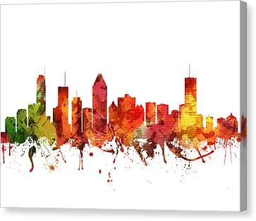 Montreal Cityscape 04 Canvas Print by Aged Pixel