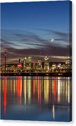 Montreal Cityscape Reflection Canvas Print by Mircea Costina Photography
