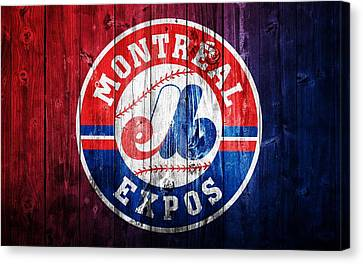 Montreal Expos Barn Door Canvas Print by Dan Sproul