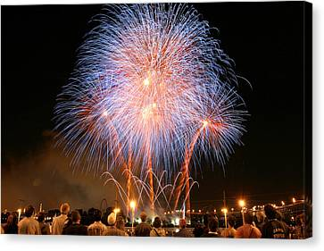 Montreal Fireworks Celebration  Canvas Print by Pierre Leclerc Photography