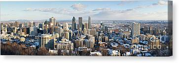Montreal In Winter Panorama Canvas Print by Jane Rix
